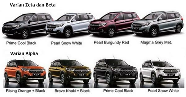 Pilihan Warna Suzuki Xl7 Zeta, Beta dan Alpha