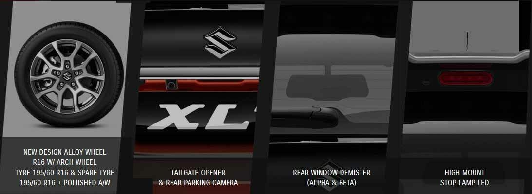 Spesifikasi dan Tampilan belakang Suzuki xl7