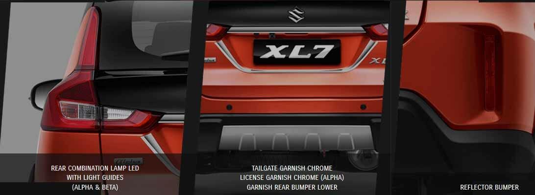 Spesifikasi dan Tampilan Eksterior Belakang Suzuki xl7