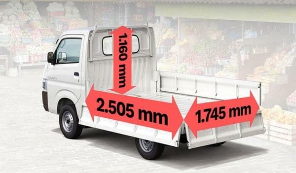 Spesifikasi dan Ukuran Bak Suzuki New Carry Pick Up
